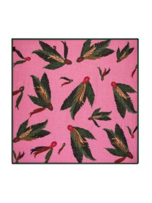 Pom Amsterdam Festival Feathers Pink Scarf