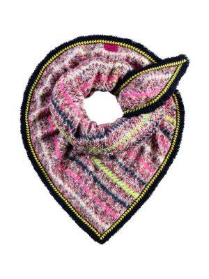 Pom Amsterdam Furry Swirl Pink Scarf