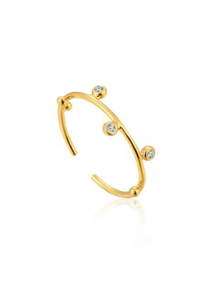 Ania Haie Gold Shimmer Stud Adjustable Ring
