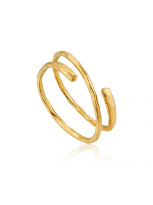 Ania Haie Gold Ripple Adjustable Ring