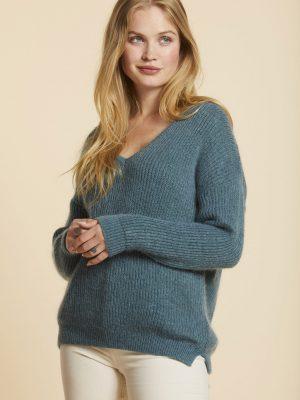 Sibin Linnebjerg Olympia Sweater Light Petrol