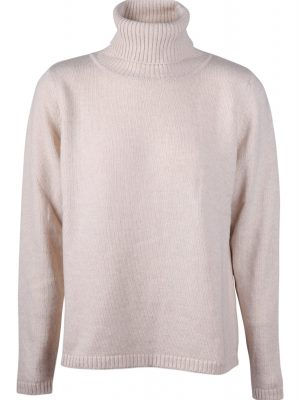 Sibin Linnebjerg Wood Roll Neck Sweater Beige
