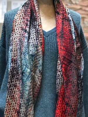 Allotment Capsule Collection Multi-Red Print Scarf