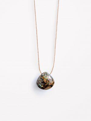 Paua Shell Fine cord necklace 1
