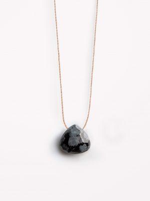Wanderlust Life Obsidian Fine Cord Necklace
