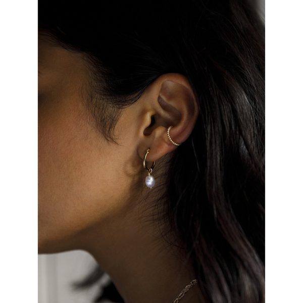 Pearl Creole Earring Gold 2