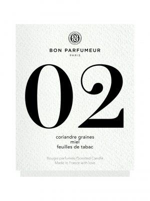 Bon Parfumeur Candle 02: Coriander seed, Honey, Tobacco leaf