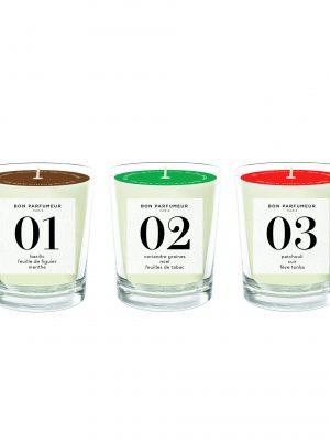 Bon Parfumeur Candle Set Glass