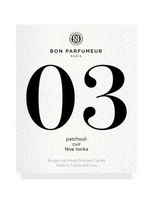 Bon Parfumeur Candle 03: Patchouli, Leather, Tonka bean