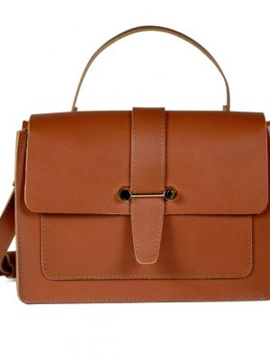 Craie Studio Geographie Leather Bag Tan
