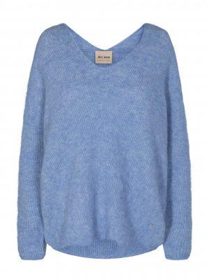 Mos Mosh Thora V-Neck Sweater Bel Air Blue