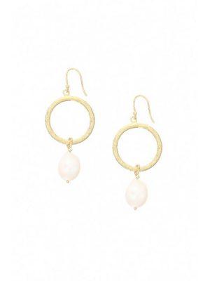 Ashiana Margot Hoop Pearl Earrings