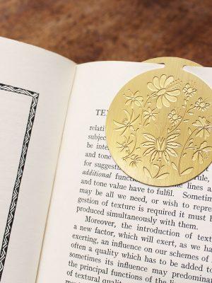 Artcadia Botanical Round Brass Bookmark