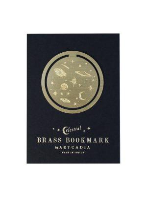 Artcadia Celestial Round Brass Bookmark 1