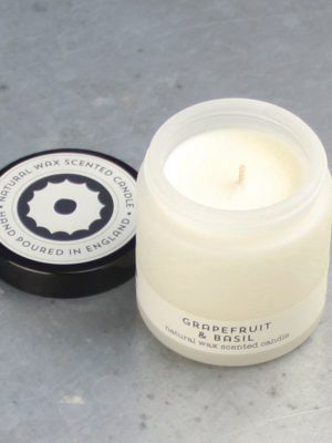 Brownstone Grapefruit and Basil Travel Candle