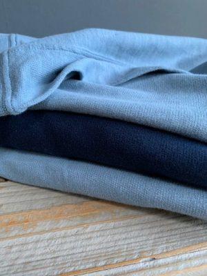 Hartford Taryll Fleece Cotton Sweatshirt Sea Blue