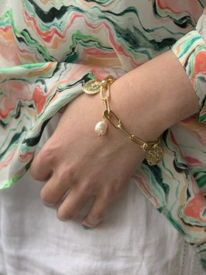 Boho Betty Wahoo Gold Chain Bracelet with Charms