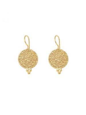 Ashiana Algir Gold Coin Earrings