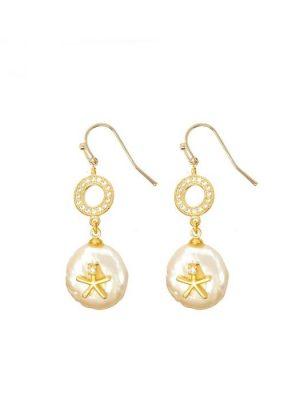 Ashiana Starfish Pearl Earrings