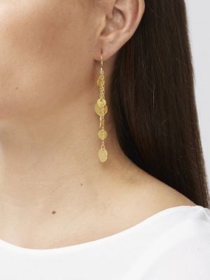 Ashiana Alena Gold Coin Earrings