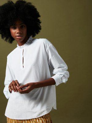 Hartford Charlotte Shirt White