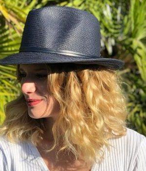 Travaux en Cours Fedora Hat Navy Blue