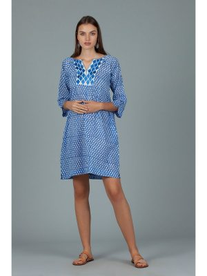 Dream Ivory Dress Iris Blue