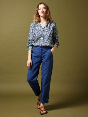 Hartford Codex Geometric Shirt Indigo