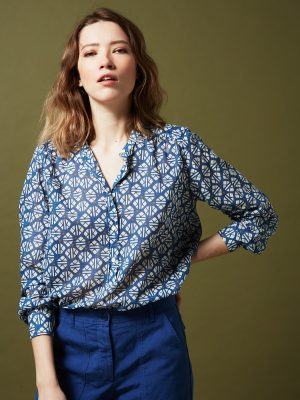 Hartford Codex shirt Blue 1