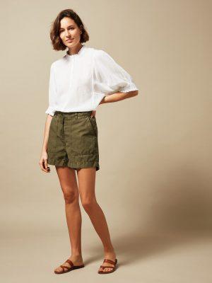 Hatford Tanju Double Fabric T-Shirt White