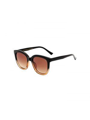 A-Kjaerbede Billy Sunglasses Black/Brown Transparent