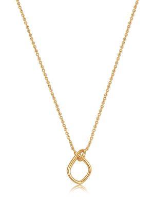 AH Gold Knot Pendant Necklace 1