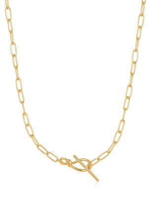Ania Haie Gold Knot T Bar Chain Necklace 1