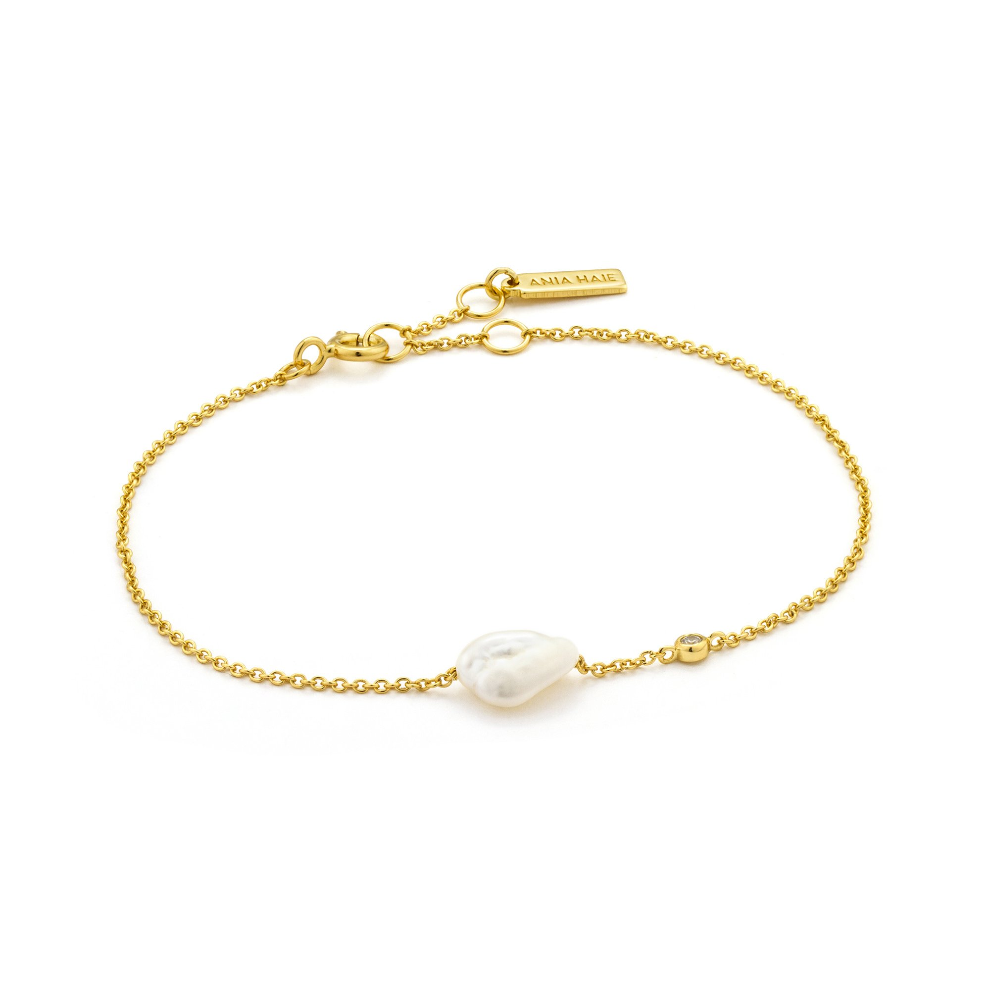 Ania Haie Gold Mixed Link T-bar Necklace — Allotment
