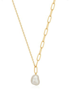 Ania Haie Gold Pearl Chunky Necklace 1