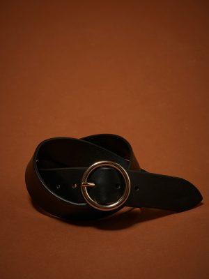 Hartford Aron Leather Belt Black