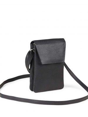 Markberg Mara Crossbody Grain Leather Bag Black