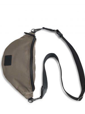 Markberg Elinor Recycled Bum Bag Walnut and Black