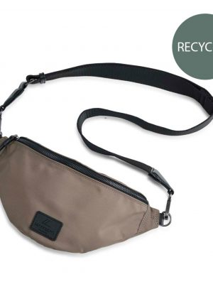 Mark Berg Recycled Bun Bag Walnut with Black