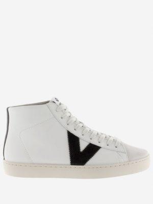 Victoria Berlin Contrast Leather Hi-Top Trainers Black