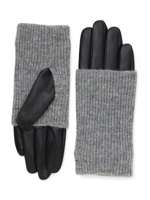 Markberg Helly Leather Glove Black with Grey