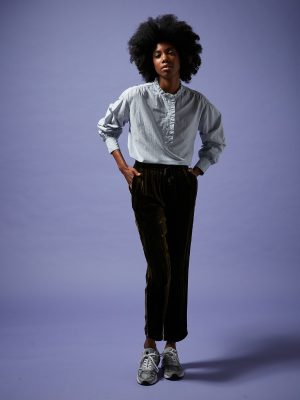 Hartford Oversize Striped Cotton Camilla Shirt
