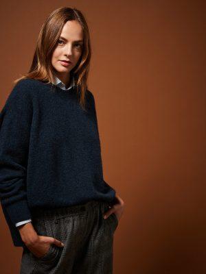 Hartford Mairam Alpaca Wool Sweater Navy
