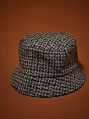 Hartford Houndstooth Wool Bucket Hat