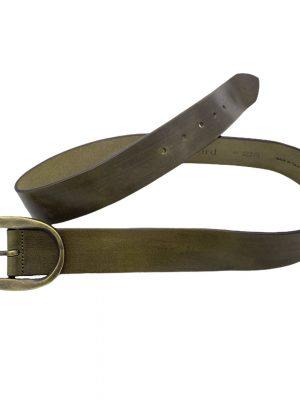 Hartford Angus Leather Belt Khaki