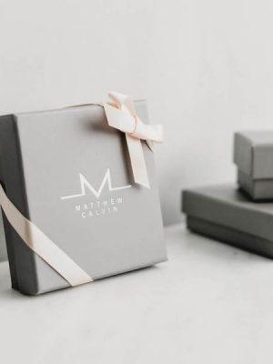 Matthew Calvin Mini Thin Meteorite Hoops Silver
