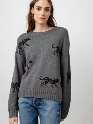 Rails Perci Ash Jungle Cat Sweater