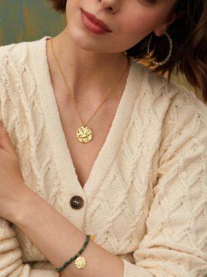 Ashiana Harmonia Short Coin Necklace Gold