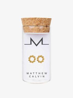 Matthew Calvin Beaded Studs Gold