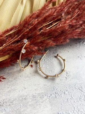 Ashiana Renee Hoop Earrings Gold